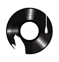 Turntable Icon vector image vector image