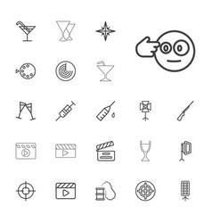 22 shot icons vector