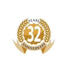 32 years ribbon anniversary vector