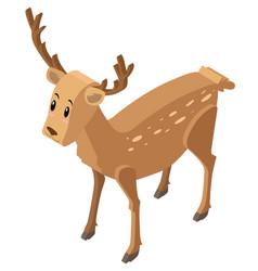 3d design for cute deer vector image