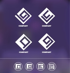 Abstract geometric logo icon set vector image