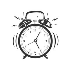 alarm clock isolated on white background vector image