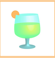 alcoholic summer cocktail with citrus vector image