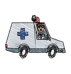 Ambulance toy little vector