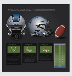American football helmet with team plan vector
