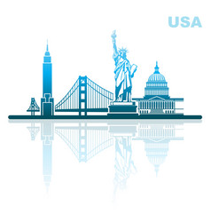 attractions of usa abstract urban landscape vector image