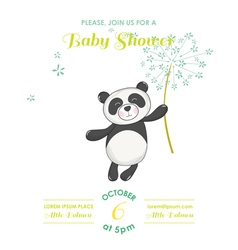 Baby shower or arrival card - panda vector