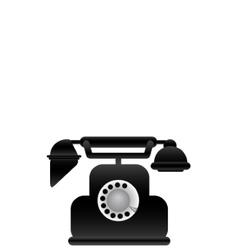Black classical phone vector