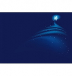 blue christmas vector image
