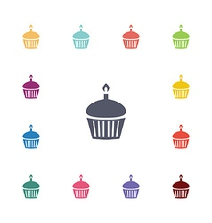 cake flat icons set vector image