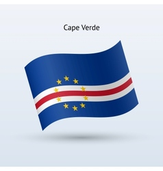 Cape Verde flag waving form vector