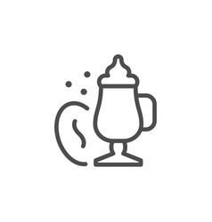 cappuccino line icon vector image
