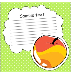 Card with apple and message cloud vector image