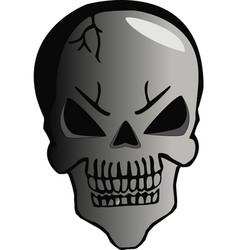 cartoon skull halloween vector image