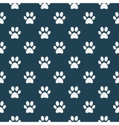 cat dog paw pattern vector image