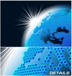 Cellular network theme vector