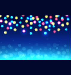 christmas bokeh background color defocused lights vector image