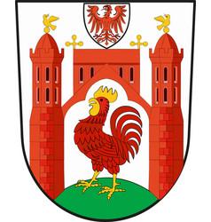 Coat of arms of frankfurt oder in brandenburg vector