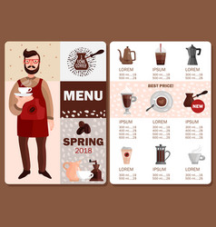 coffee production menu vector image