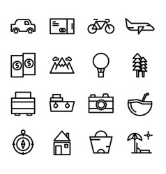collection travel icon set vector image