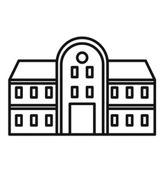College building icon outline style vector