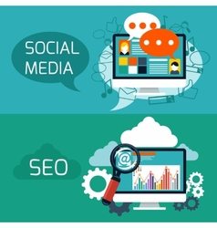 Concept for seo and social media application vector