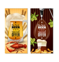 Dark Light Beer 2 Vertical Banners Set vector image