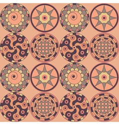Decorative circles vector image