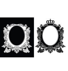 Duo Of One Color Royal Oval Frames vector image