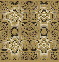 Ethnic floral seamless pattern ornamental tribal vector