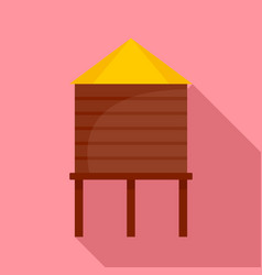 farm barn icon flat style vector image