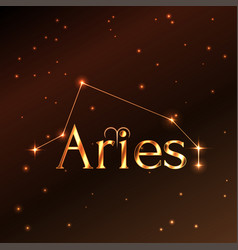 fire symbol of aries zodiac sign horoscope vector image