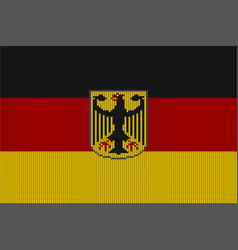 Flag and federal coat arms germany vector