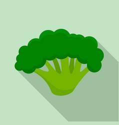 Fresh broccoli icon flat style vector