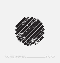 geometric simple shape in grunge retro style vector image