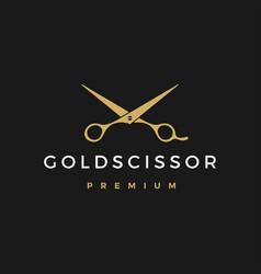 Gold scissor logo icon vector
