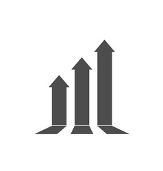 Growth up arrow icon business leadership sign vector