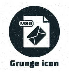 Grunge msg file document download msg button icon vector