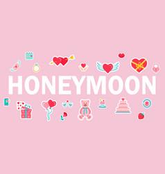 Honeymoon word typography design vector
