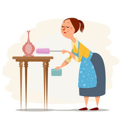 House maid working vector