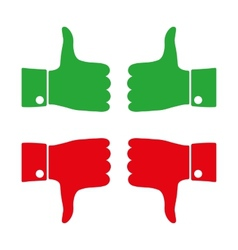 Icons thumbs down and up vector image