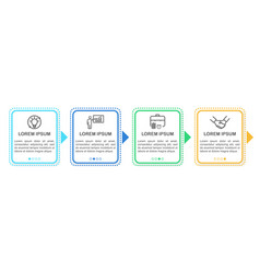 infographic design template with icons and 4 vector image