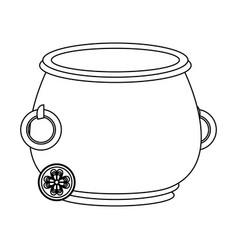 Irish pot with coin vector