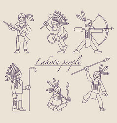 Lakota-people vector