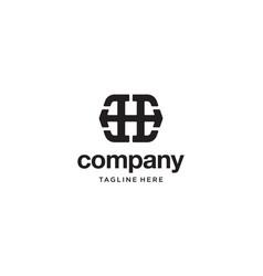Letter e and h logo design concept vector