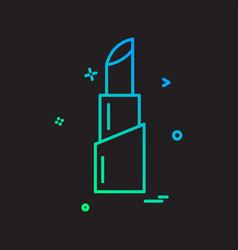 lipstick icon design vector image
