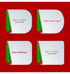 modern christmas banners set vector image vector image
