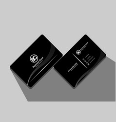 Modern simple line business card template vector