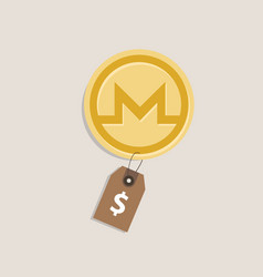 Monero coin price value of crypto-currency in vector