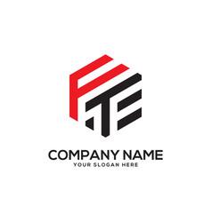 Monogram ft initial letter logo inspiration f vector